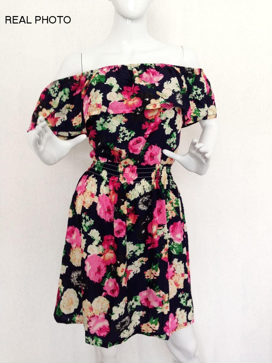 2017 fashion nowa wiosna lato plus size odzież kobiet floral print wzór sukienki na co dzień vestidos wc0472 21