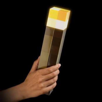 E Pc D'action Illuminer Torche Minecraft 1 Figurine 8Pn0Okw
