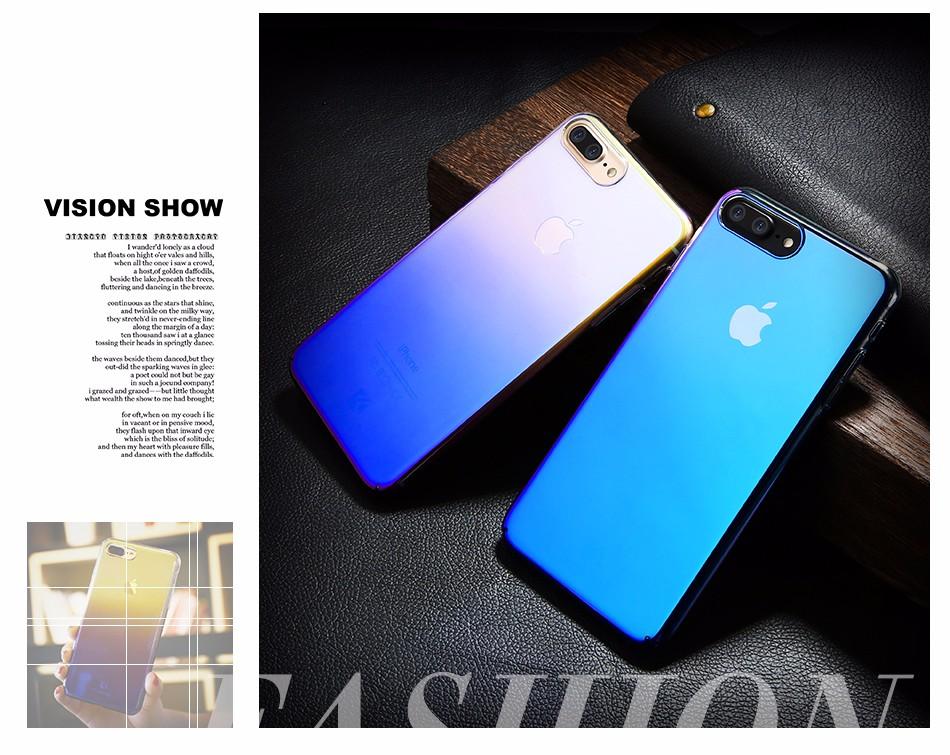 Floveme dla iphone 6 6s plus case 5 5S se gradient blue-ray światło case dla apple iphone 7 7 plus 5S jasne akcesoria pokrywa Capa 2