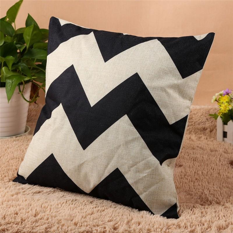 4 Types 45*45cm Vintage Fashion Cotton Linen Cushion Cover Throw Pillow Case Sofa Car Decor Cushion Cover 9