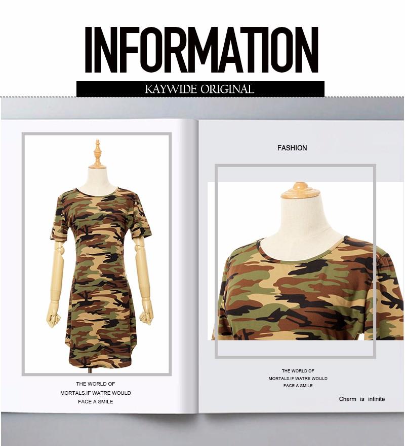2016 new fashion kobiety lato dress krótki rękaw sexy mini sukienki kobiety zielony kamuflaż druku plus rozmiar kobieta vestidos 2