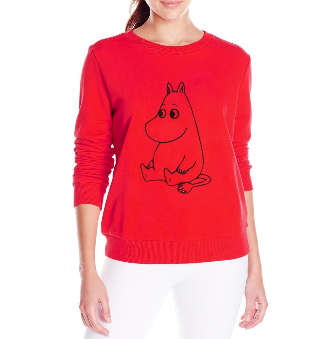 MUMINKI Kawaii Cartoon Wydrukowano bluza Kobiety bluzy z kapturem z polaru Śmieszne Przypadkowa kobieta swetry 2017 harajuku hip-hop marki dres 5