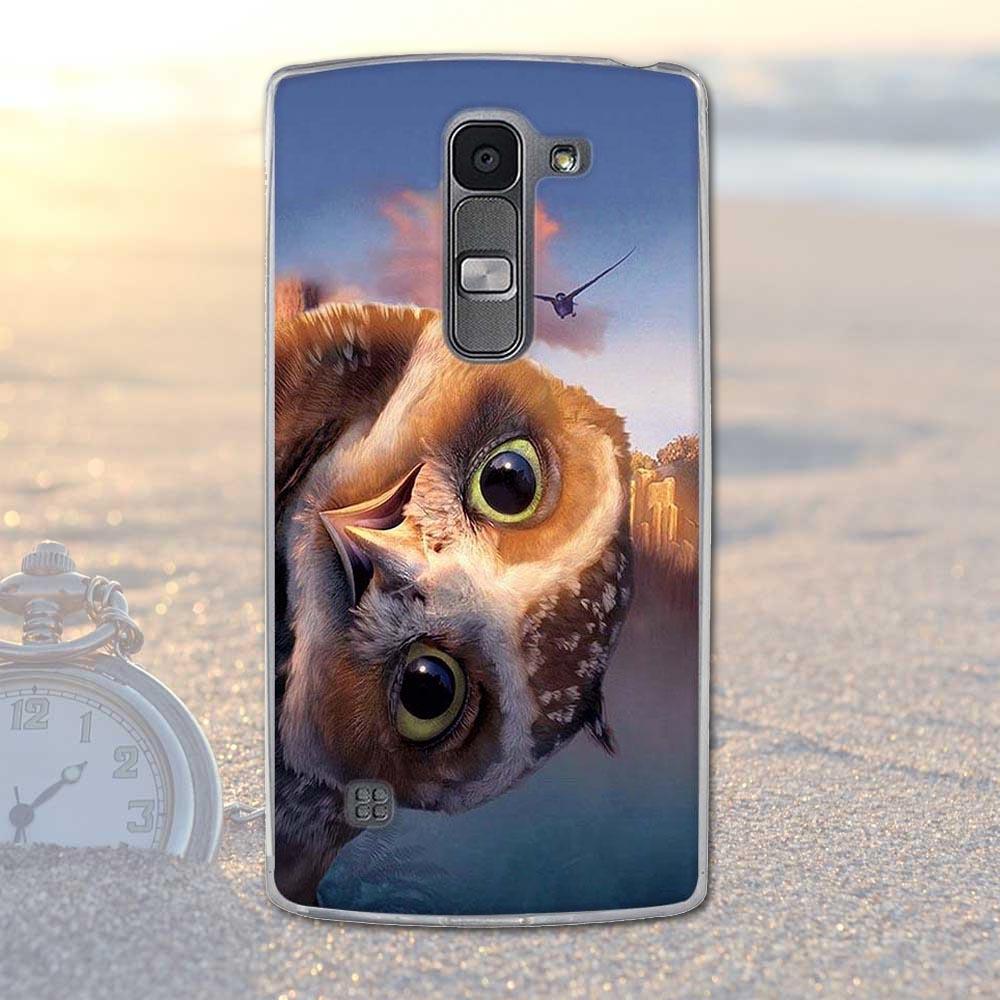 Fundas telefon case pokrywa dla lg spirit 4g lte h440y h422 h440n h420 miękka tpu kwiaty zwierzęta dekoracje telefon pokrywa dla lg duch 9