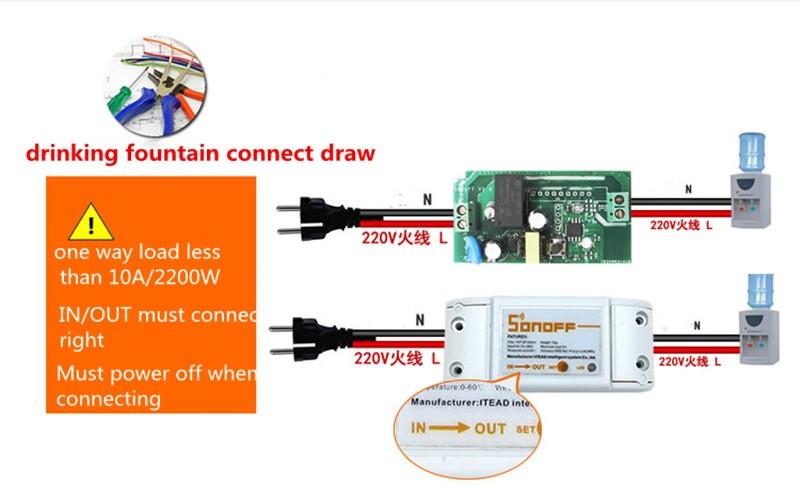 Itead Sonoff Inteligentny Wifi Przełącznik Czasowy Inteligentny Uniwersalny Bezprzewodowy Przełącznik DIY MQTT COAP Android IOS Zdalnego Sterowania Inteligentnego Domu 6