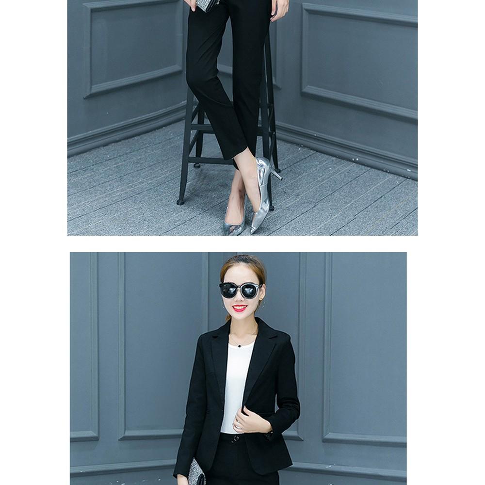 2017 w nowym stylu mody OL eleganckie kobiety pant suits formalna firm garnitur nosić pełne rękawem jednego przycisku femme blazer garnitur szczupła kurtka 18