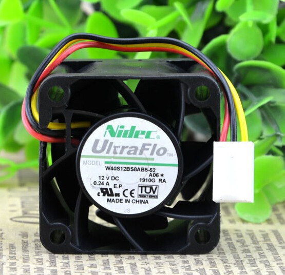 Genuine original NIDEC 4028 4CM 12V 0.24A W40S12BS8AB5-52 violent fan