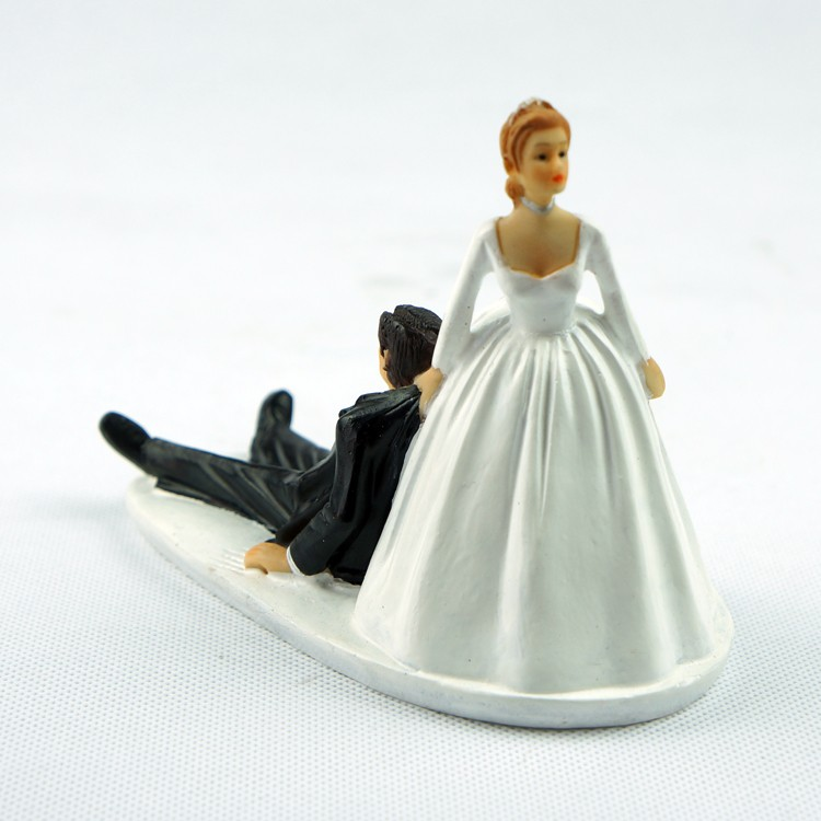 Groom Catching Bride Cake Topper