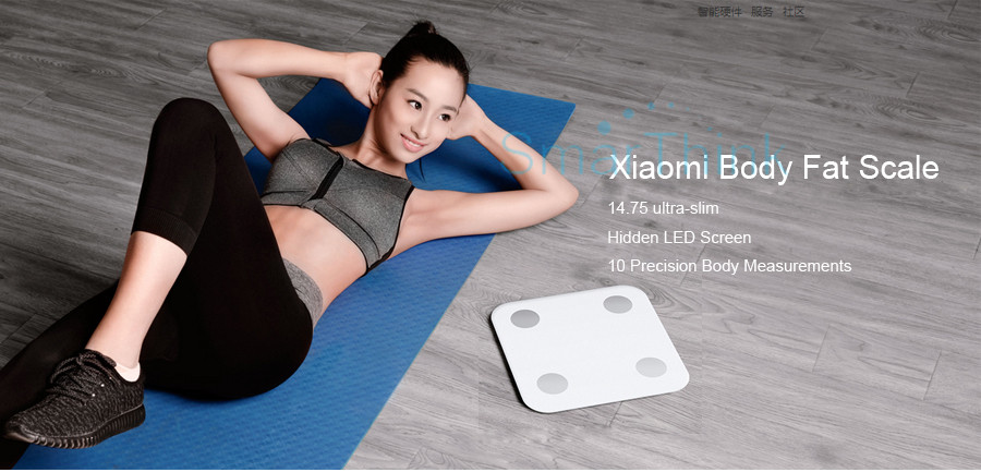 Nowy Oryginalny Xiaomi Mi Inteligentne Skala Tkanki Tłuszczowej Z Mifit APP i Składu ciała Monitor Z Ukrytym Wyświetlacz LED I Duże Stopy Pad 2