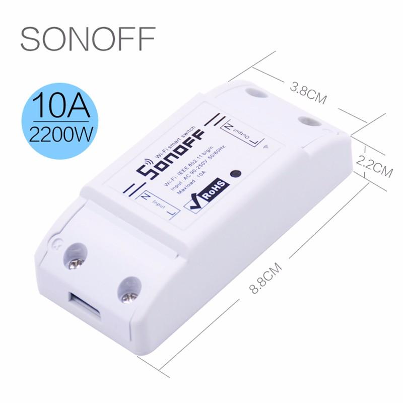Itead Sonoff Inteligentny Wifi Przełącznik Czasowy Inteligentny Uniwersalny Bezprzewodowy Przełącznik DIY MQTT COAP Android IOS Zdalnego Sterowania Inteligentnego Domu 12