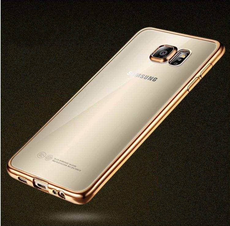 Coque dla samsung galaxy s6 edge s6 s7 s7 edge case wyczyść przezroczysty złocenie miękka tpu back cover dla samsung s6 edge case 15