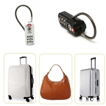 00c994ef7a1d Zinc Alloy Black and White Security TSA 3 Digit Combination