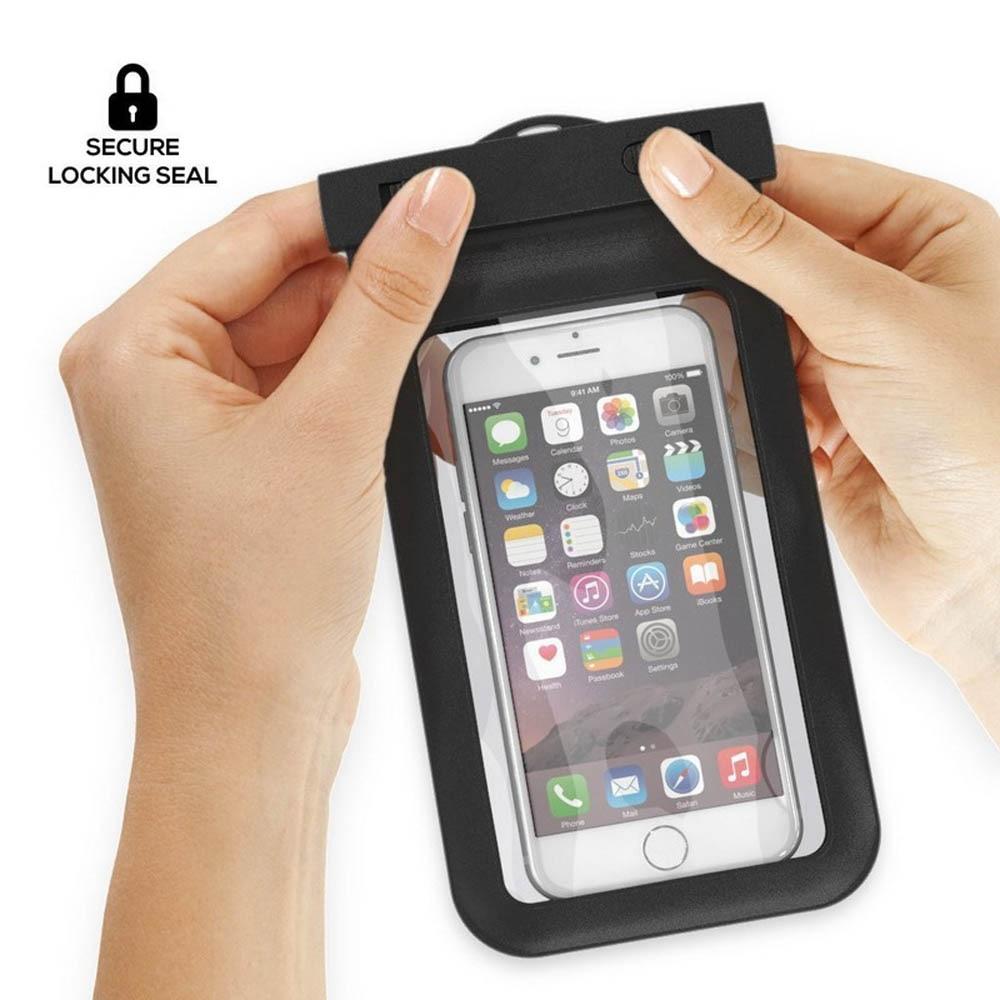 100% uszczelnione wodoodporna torba case pokrowiec etui na telefony dla iphone 7 6 6 s plus 5S samsung galaxy s7 s6 s5 s4 krawędzi plus mobilnej telefony 6