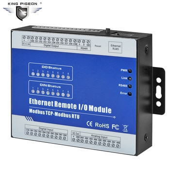 Ethernet Modbus TCP to Modbus RTU Extend I/O modules with 1 RS485