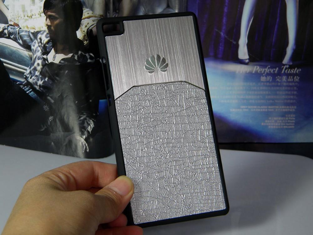 Dla huawei p8 lite case p9 lite plus honor 8 p9 pokrywy hybird Szczotkowanego aluminium Metal z Luksusowych Skóry materiał darmowa wysyłka 9