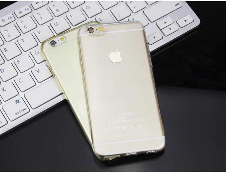Esamday Ultra Thin Miękka TPU Gel Oryginalny Przezroczysty Case Dla iPhone 6 6 s 7 7 Plus 6 sPlus Crystal Clear Silicon Obejmują Przypadki Telefonów 18