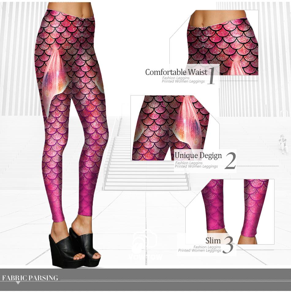 [Jesteś my secret] colorfull skalę ryby symulacji syrenka kobiety legginsy 3d digital print legginsy fitness legging summer dziewczyny 12
