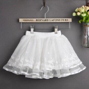 74fd1459a Baby Girls Tutu Skirt 3-7 Years White Fluffy Mini Skirt Summer—Free Shipping