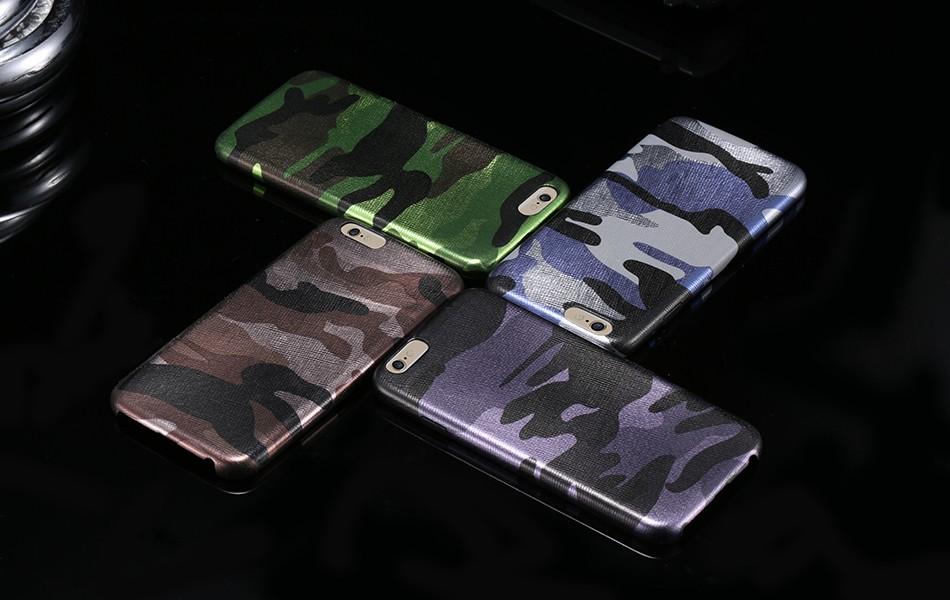 Dla iphone 7 5 5s se case wojskowy kamuflaż mężczyzn skórzane torby telefon sprawach dla iphone 7 7 plus pokrywa dla iphone 6 6s plus 5 5S se 21