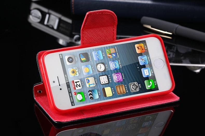 Podwójny kolor klapki skóra telefon torba case dla iphone 6 7 6 s plus 5 5S se gniazda kart + stojak kabura pokrowiec case dla iphone 7 6 6 s 22