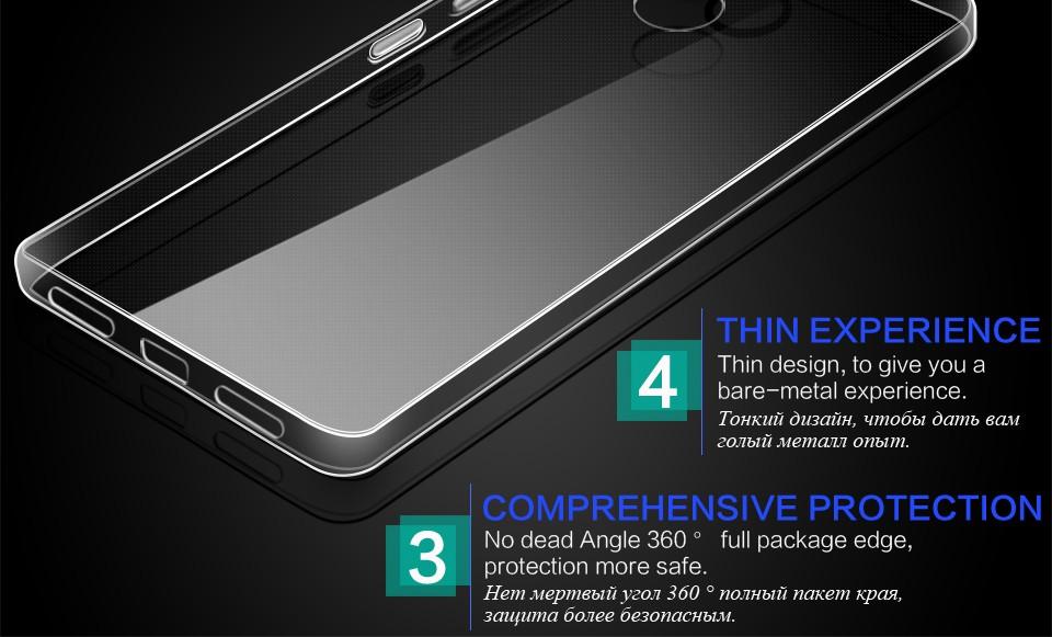 Pzoz xiaomi redmi 4 case silikonowy pokrowiec oryginalny xiaomi redmi 4 pro slim przejrzystą ochronę soft shell 4x redmi redmi 4A 4