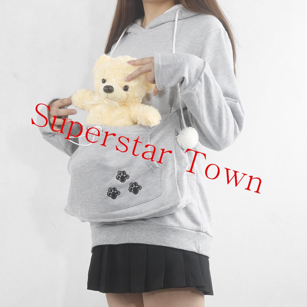 Cat lovers bluzy z cuddle etui dog pet bluzy dla kangura dorywczo swetry z uszy bluza 4xl drop shipping 11
