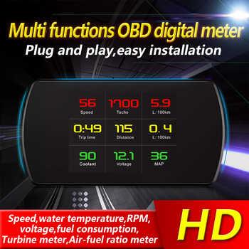 P12 OBD2 Car HUD Head Up Display Digital Speed Projector On-Board