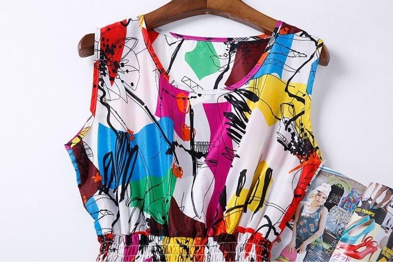 Sexy kobiety chiffon dress sundress plaża floral bez rękawów tank mini sukienki vestido 37