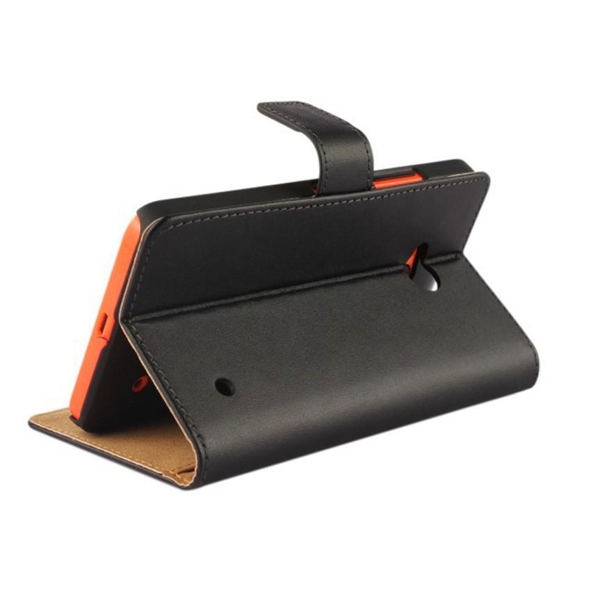 Luksusowe odwróć portfel genuine leather case pokrywa dla microsoft lumia 640 lte dual sim cell phone case do nokia 640 n640 powrót pokrywa 4