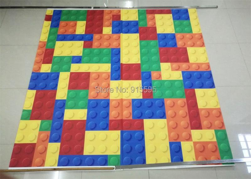 Rozmiar niestandardowy 3d malowidła ścienne tapety do salonu sypialnia dla dzieci sklep z zabawkami lego bricks włókniny mural tapety wystrój 8