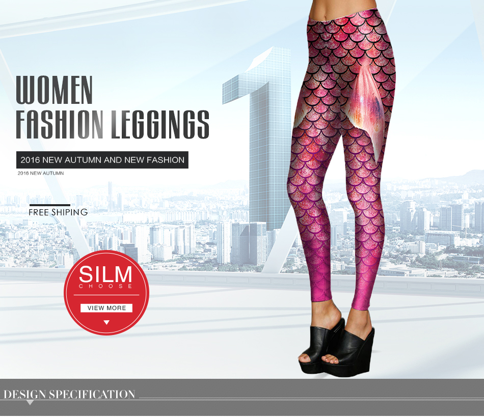 [Jesteś my secret] colorfull skalę ryby symulacji syrenka kobiety legginsy 3d digital print legginsy fitness legging summer dziewczyny 11