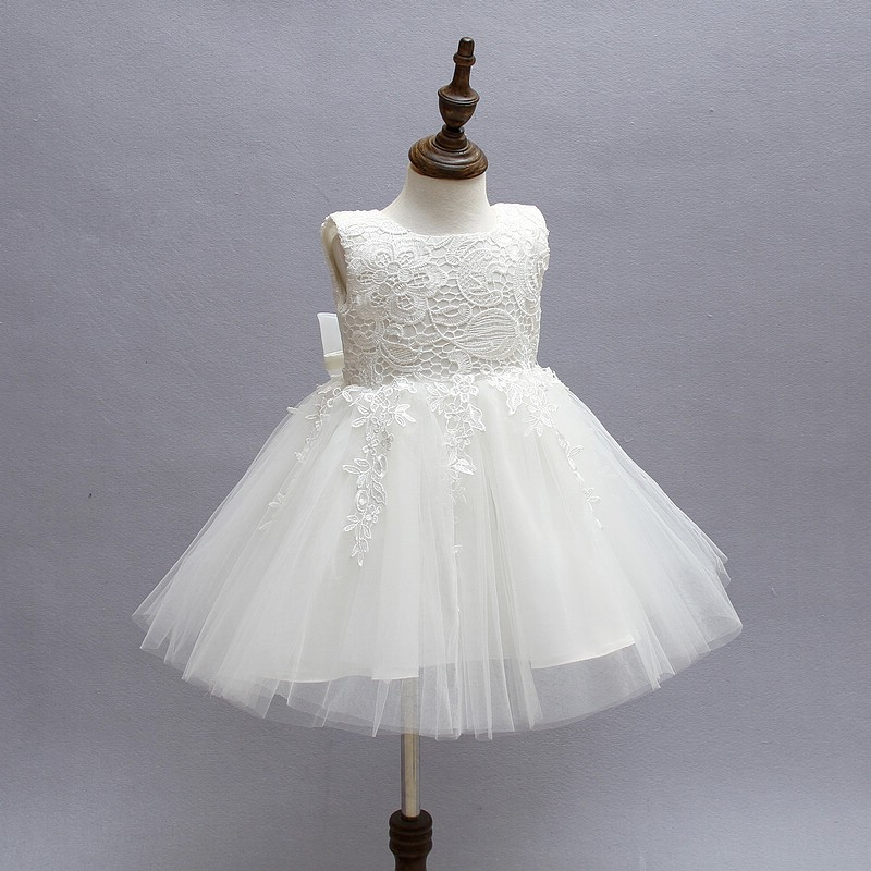 Ivory Tulle Lace Flower Girl Dress 3
