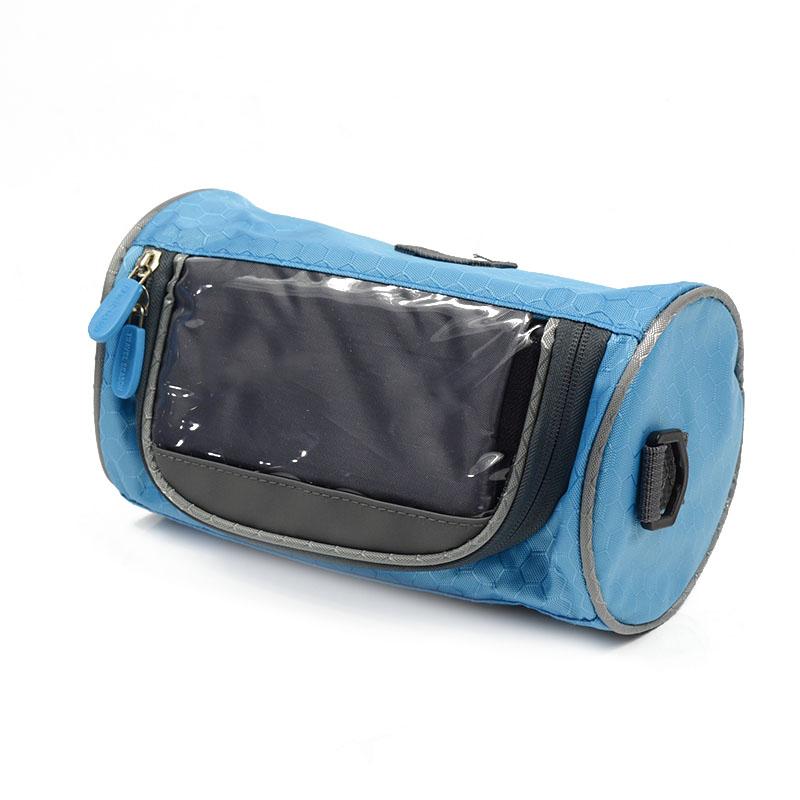Wodoodporny Ekran Dotykowy Sakwy Rowerowe Rower Górski Rower Torby Phone Bag Case Rower Szosowy Rura Przednia Kierownica Torba Cylindra 21
