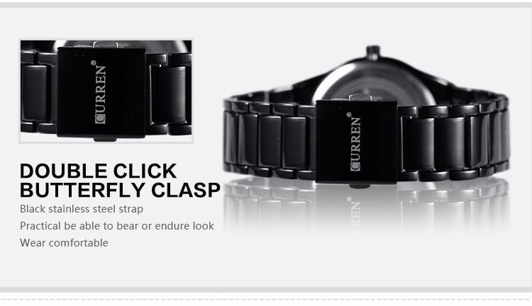 Curren 2016 Najlepsze Marki Biznesmenów Mężczyzna Luksusowy Zegarek Na Co Dzień Pełne stali Kalendarz zegarki Na Rękę zegarki kwarcowe relógio masculino 9