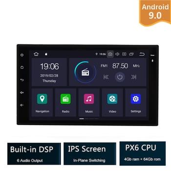 2 Din 7'' Android 9 0 PX6 4G RAM 64G ROM Universal Car Radio