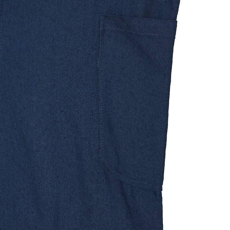 Zanzea kobiet kombinezony 2017 rękawów regulowany pasek kieszenie przycisk szeroki noga denim niebieski retro łydka długość pajacyki kombinezony 22