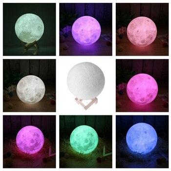 Creative Lune Led D 3 Imprimé Veilleuse Pleine Avec 0P8OXnwkNZ