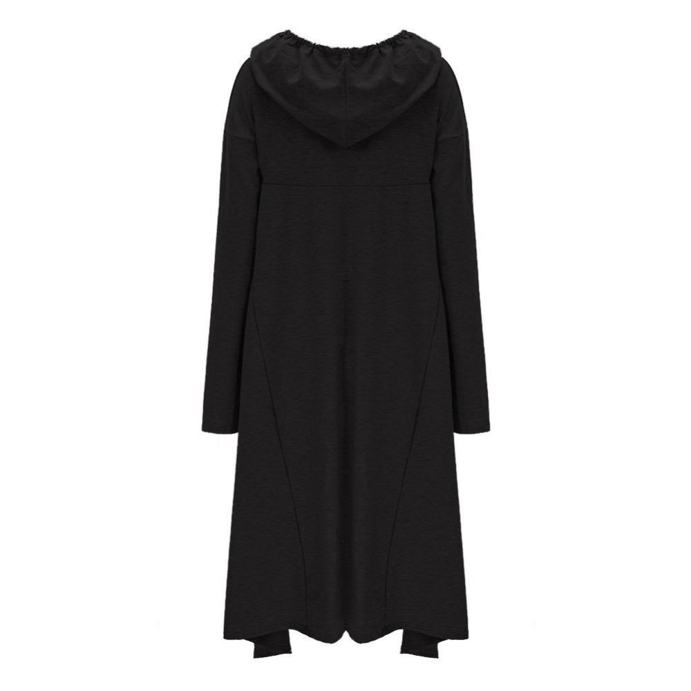 Preself Oversize Sweter Z Kapturem Bluza Kobiety Hoody Blaty Kobiet Luźna Z Długim Rękawem Płaszcz Z Kapturem Na Co Dzień Znosić Pokrywa Swetry Ubrania 23