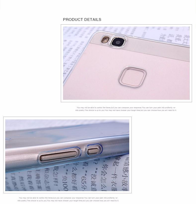 Ultra-cienki przezroczysty miękka tpu case dla huawei p8 p9 plus p8 lite krzemu gradientu telefon ochronna pokrywa dla huawei p9 Shell 5
