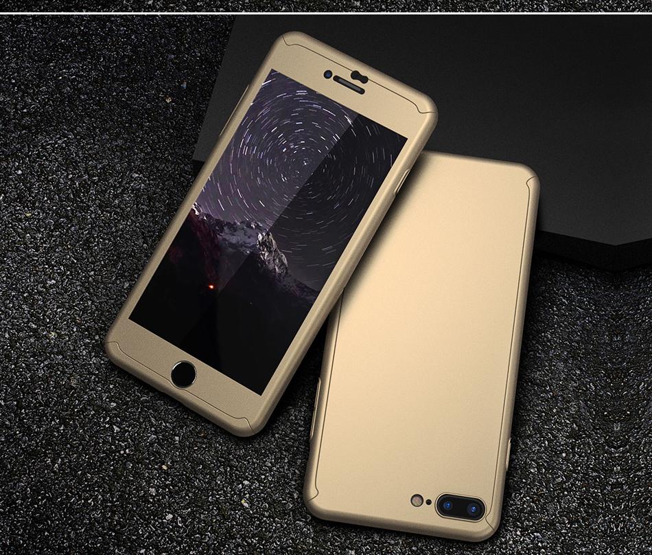 Floveme 360 pełna ochronne twarde etui na telefony iphone 6 6s plus 7 7 plus coque luksusowe odporny na wstrząsy case + ekran szkła Protector 12