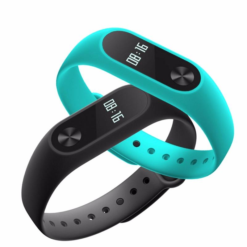 Oryginalny xiaomi mi kompania 2 miband bransoletka wistband inteligentnego tętno fitness ekran oled wyświetlacz dla iphone 7 touchpad bluetooth 15