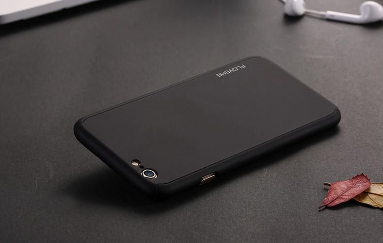 Floveme 6 s 7 plus armor screen protector 360 stopni case dla iphone 7 6 6 s dla iphone 6 6s 7 plus full chroń odporny na wstrząsy pokrywa 24