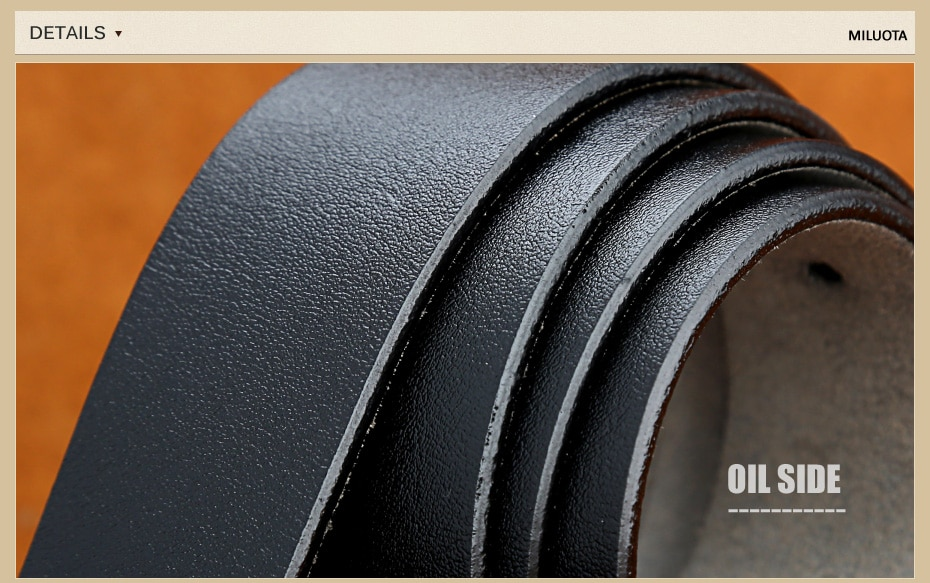 [Miluota] pasy designer mężczyźni wysokiej jakości prawdziwy skórzany pas dla mężczyzn luksusowe ceinture homme military style 130 cm mu012 27