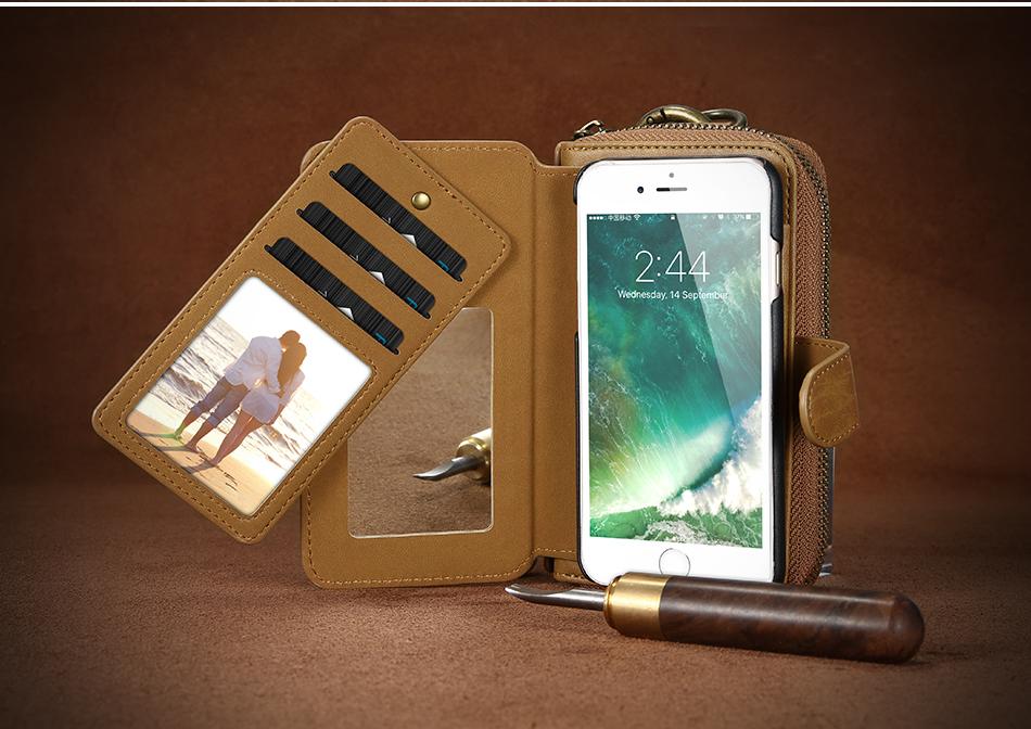 Floveme vintage leather wallet phone case for iphone 7 7 plus 6 6 s plus retro torebka slot kart pokrywa dla samsung s7 s8 coque 12