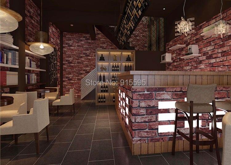 Nowoczesne vintage cegły kamienia pokoju tapety mural 3d winylu wodoodporna tłoczone tapety rolka papel de parede home decor 10 m 12