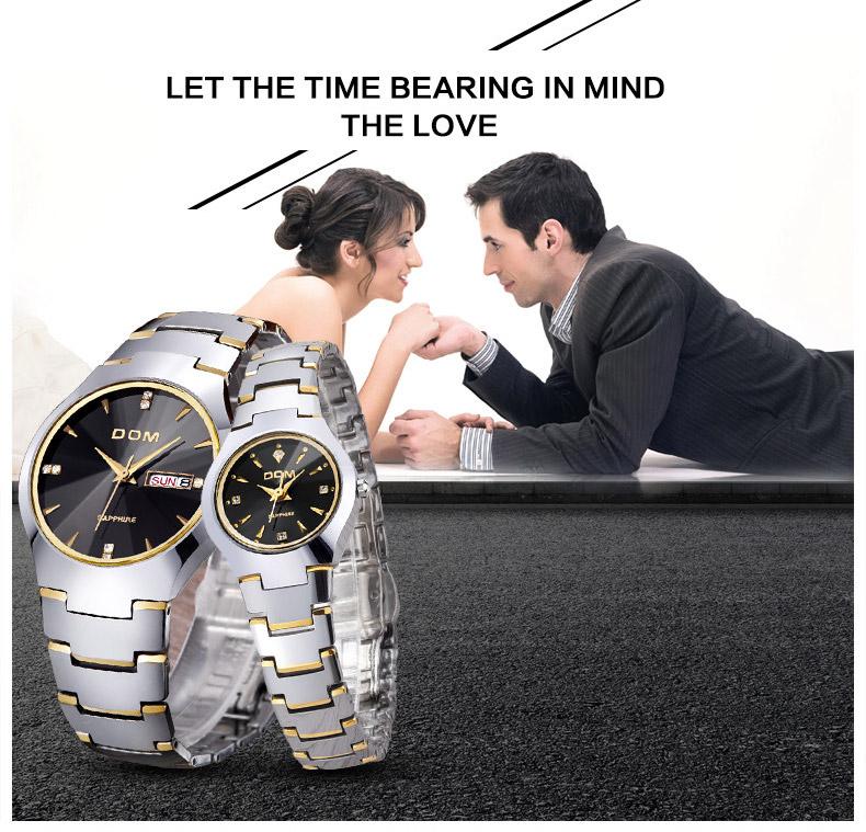Hk dom luksusowe top marka męska zegarek wolframu stal wrist watch wodoodporna biznesu kwarcowy zegarek fashion casual sport watch 21