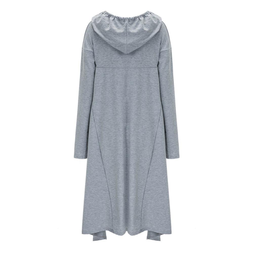 Preself Oversize Sweter Z Kapturem Bluza Kobiety Hoody Blaty Kobiet Luźna Z Długim Rękawem Płaszcz Z Kapturem Na Co Dzień Znosić Pokrywa Swetry Ubrania 21