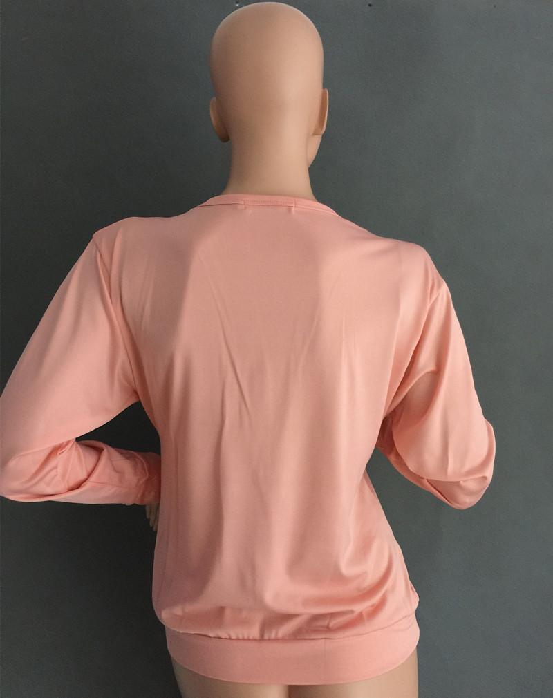 Głębokie V Zamek Kołnierz Nietoperz Z Długim Rękawem Dla Kobiet Dorywczo Cienka Warstwa Kobiet W Nowym Stylu Jesień Bluzy Z Sexy 6