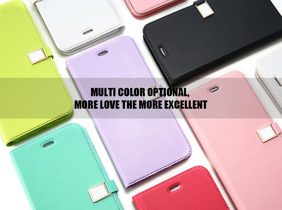 Kisscase candy kolor skóry case dla iphone 7 7 plus odwróć karty portfel slot case pokrywa dla iphone 6 6s plus 5S 5c 4S z logo 1
