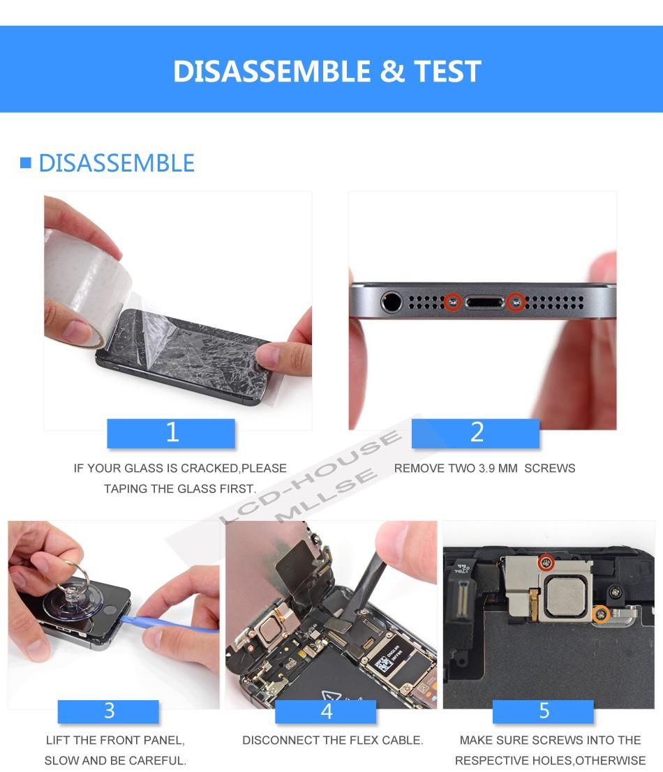 Mllse dla iphone 5 5s 5c moduł wyświetlacza lcd dotykowy ekran digitizer szklarz klon telefonu ekran lcd Klasy AAA jakość 9