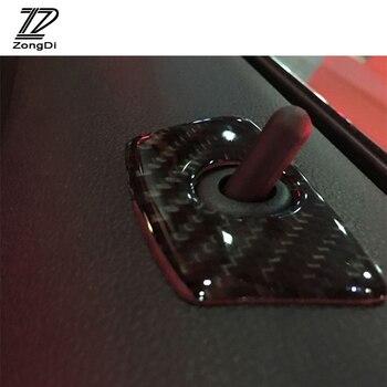 ZD 2pcs Door Pin Lock Carbon Fiber Car Stickers For BMW E46 E39